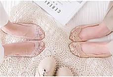 Кружевные тапочки носки (пудровыми) (123314), фото 2
