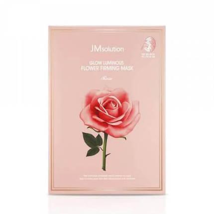 Тканевая маска с экстрактом розы JMSolution Glow Luminous Flower Firming Mask Rose, фото 2