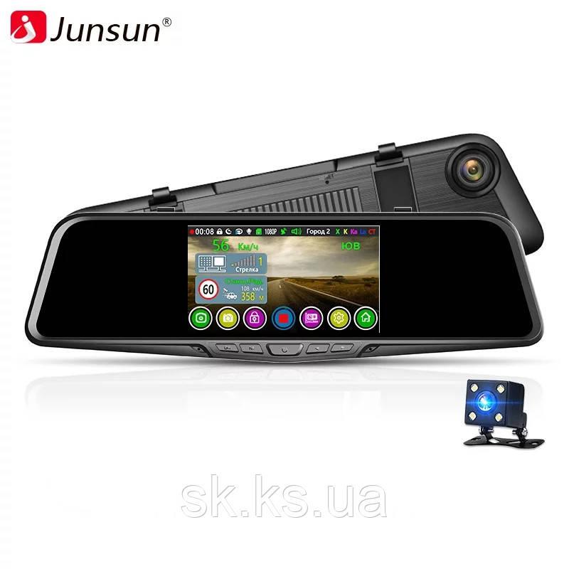 Автомобильный радар детектор оригинал junsun L11 видеорегистратор с зеркалом заднего вида