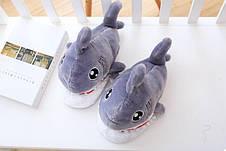 Плюшевые Тапочки Акула (123486), фото 2
