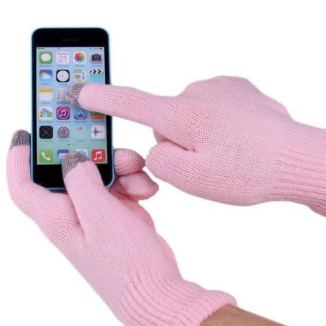 Перчатки для сенсорных экранов (Розовый) (123653), фото 2