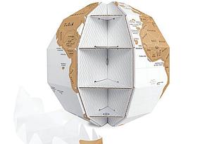 Скорочує Карта Світу Земний Куля (123631), фото 3