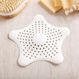 Силиконовая решетка для раковины Морская Звезда White (123362), фото 2