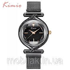 Женские часы KIMIO 3D Звездное небо Black с черным ремешком