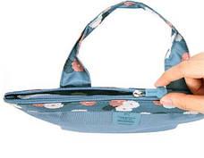 Женская пляжная сумка (Голубая) (123466), фото 2