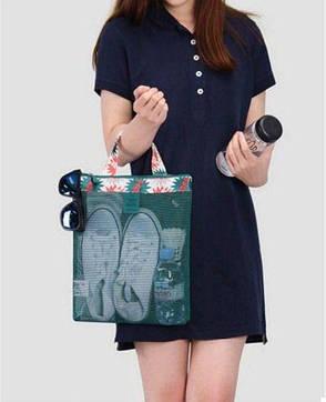 Женская пляжная сумка (Зеленый) (123468), фото 2
