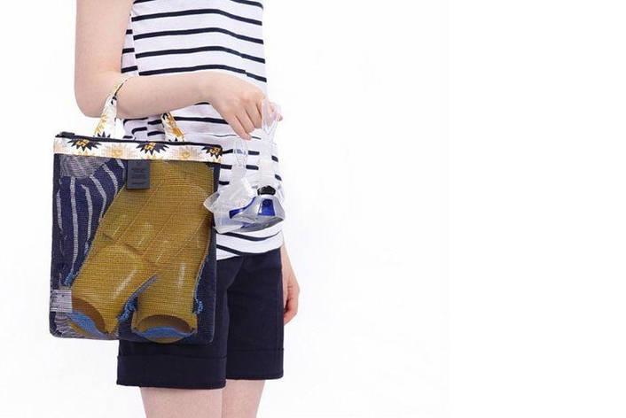Женская пляжная сумка (Черный) (123469), фото 2