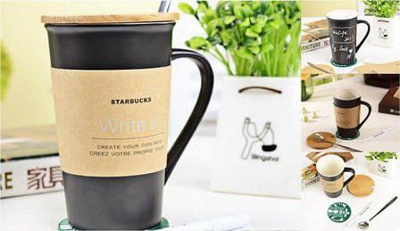 Керамическая Чашка Starbucks с маркером (123473), фото 2