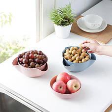 Миска для Орехов, фруктов (Розовый) (123488), фото 3