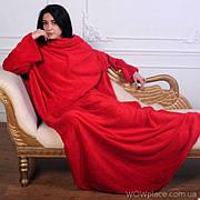 Плед з рукавами червоний (123628)