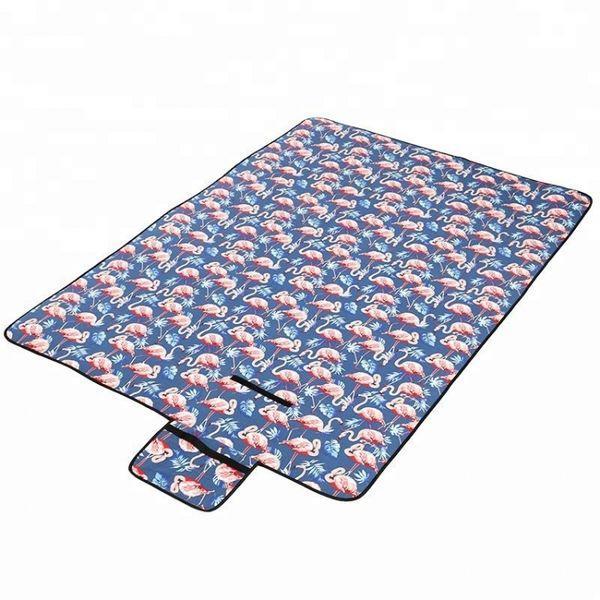 Водонепроницаемый коврик для пикника Фламинго (Blue) (123826)