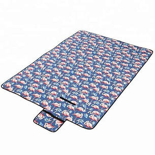 Водонепроницаемый коврик для пикника Фламинго (Blue) (123826), фото 2