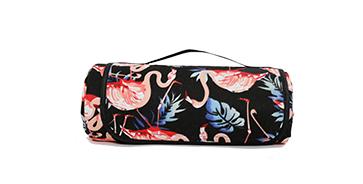 Водонепроницаемый коврик для пикника Фламинго (Black) (123827)