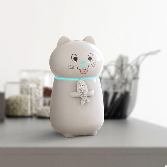 Мини увлажнитель воздуха humidifier Cat White (123925)