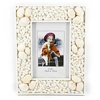 Морская фоторамка с изображением девочки в оранжевом пальто АS116