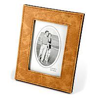 Фоторамка для фото оранжевая пятнистая с изображение пары в ретро стиле S07
