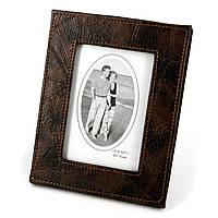 Рамка для фотографии темно-коричневая из коже заменителя S02