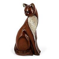"""Статуэтка деревянная кошка источник положительной энергии """"Целительница"""" HYS3928B3"""