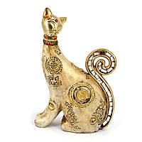 Фигурка кошки в восточном стиле с напылением под золото ZHS74328-A