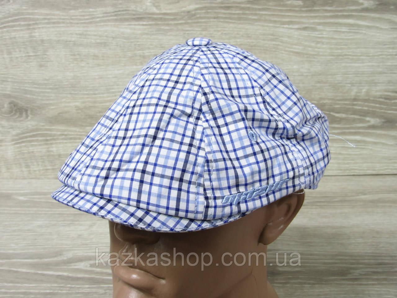 Мужская кепка хулиганка, восьмиклинка, в клетку синего цвета, сезон весна-лето, размеры 56-60 см