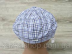 Мужская кепка хулиганка, восьмиклинка, в клетку синего цвета, сезон весна-лето, размеры 56-60 см, фото 2
