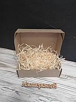 Коробка 120*100*80 мм крафт для подарка с древесным наполнителем , для сувенира, для мыла, косметики, пряника
