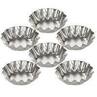Форми залізні для випікання тарталеток R21612 в наборі 6 шт, д5,5см, форми для випічки, посуд, металева форма