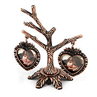 Рамка для 2 фото семейное дерево покрытое медью YLSV026