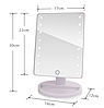 Настольное косметическое зеркало с подсветкой для макияжа Large LED Mirror, фото 5