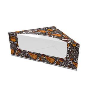 Картонная упаковка для сендвичей тёмная