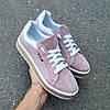 Женские кроссовки из натуральной замши пудрового цвета EASE, фото 2