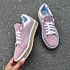 Женские кроссовки из натуральной замши пудрового цвета EASE, фото 3