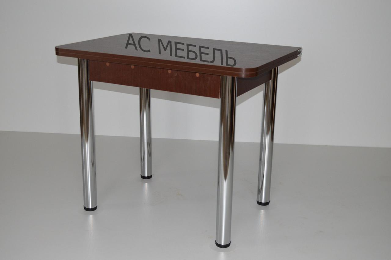 стол кухонный трансформер раскладной на металлический ногах цвет венге темный продажа цена в дружковке столы кухонные от интернет магазин ас