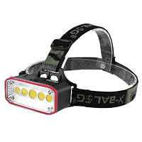 Налобный фонарь Police 965 COB+red/green