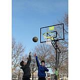 Переносной баскетбольный щит EXIT Galaxy green/black на колёсиках, фото 8