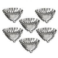"""Форми залізні для випікання тарталеток """"Трикутник"""" R21613 в наборі 6 шт, 6см, форми для випічки, посуд, металева форма"""
