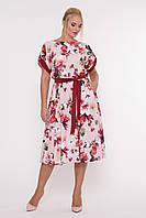 Свободное платье летнее с принтом, с 52-58 размеры, фото 1