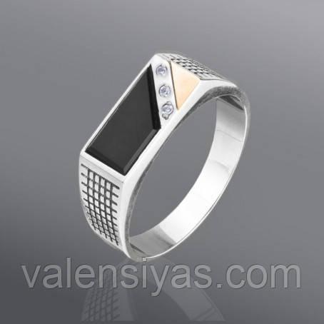 Перстень серебряный мужской, фото 2