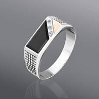 Перстень серебряный мужской