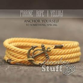 Браслет з якорем Anchorstuff - Marine Rope Yellow