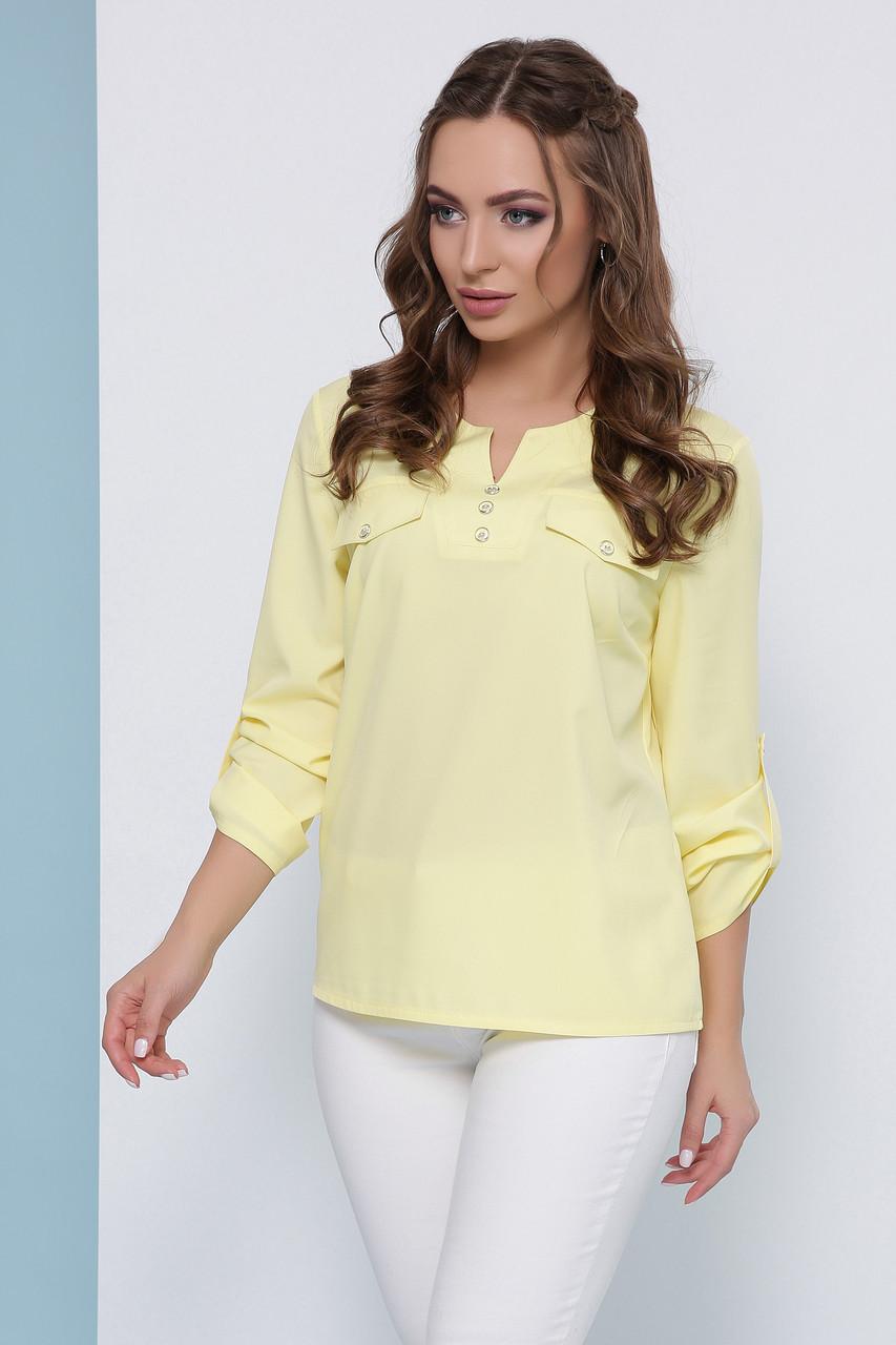 Блуза1825 лимонный