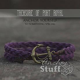 Браслет з якорем Anchorstuff - Treasure Of Port Royal Purple