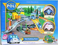 Робокар Поли гараж-трек машинки 2 шт