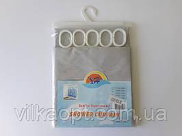 Шторка для ванной и душа (штора в ванную) YH с кольцами полиэстер водонепроницаемый 120 * 180 cm.