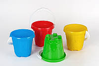 Ведро для песка Замок Toys Plast (ИП 20003)