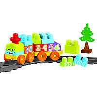 Baby Blocks Мои первые кубики - железная дорога 1,45 м 36 элементов Wader (41460)
