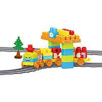 Baby Blocks Мои первые кубики - железная дорога 2,24 метра 58 элементов Wader (41470), фото 1