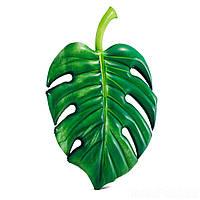 Intex 58782, Пляжный надувной матрас-плот Пальмовый лист 213х142 см, фото 1