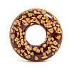 Intex 56262, Надувной круг Шоколадный пончик 114 см