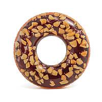 Intex 56262, Надувной круг Шоколадный пончик 114 см, фото 1